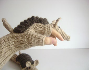 CAMPAİGN //Original Design Cute Armadillos  gloves, Valentine day, boy, girl