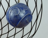 holiday ornament blue silver Christmas ornament holiday decoration Christmas decoration ooak ornament handmade ornament victorian style