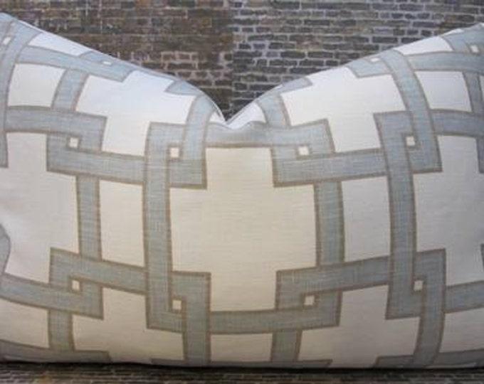 SALE Designer Pillow Cover - Lumbar, 16 x 16, 18 x 18, 20 x 20 - Citysquare by Thom Filicia -