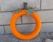 RESERVED. Pumpkin Wreath. Thanksgiving Wreath. Fall Wreath. Autumn Wreath. (W82)