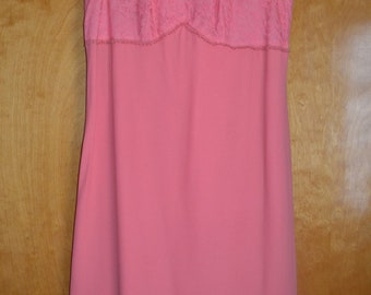 Pink sleeveless 60's dress