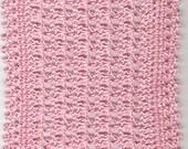 Crocheted Dollhouse Blanket Pink