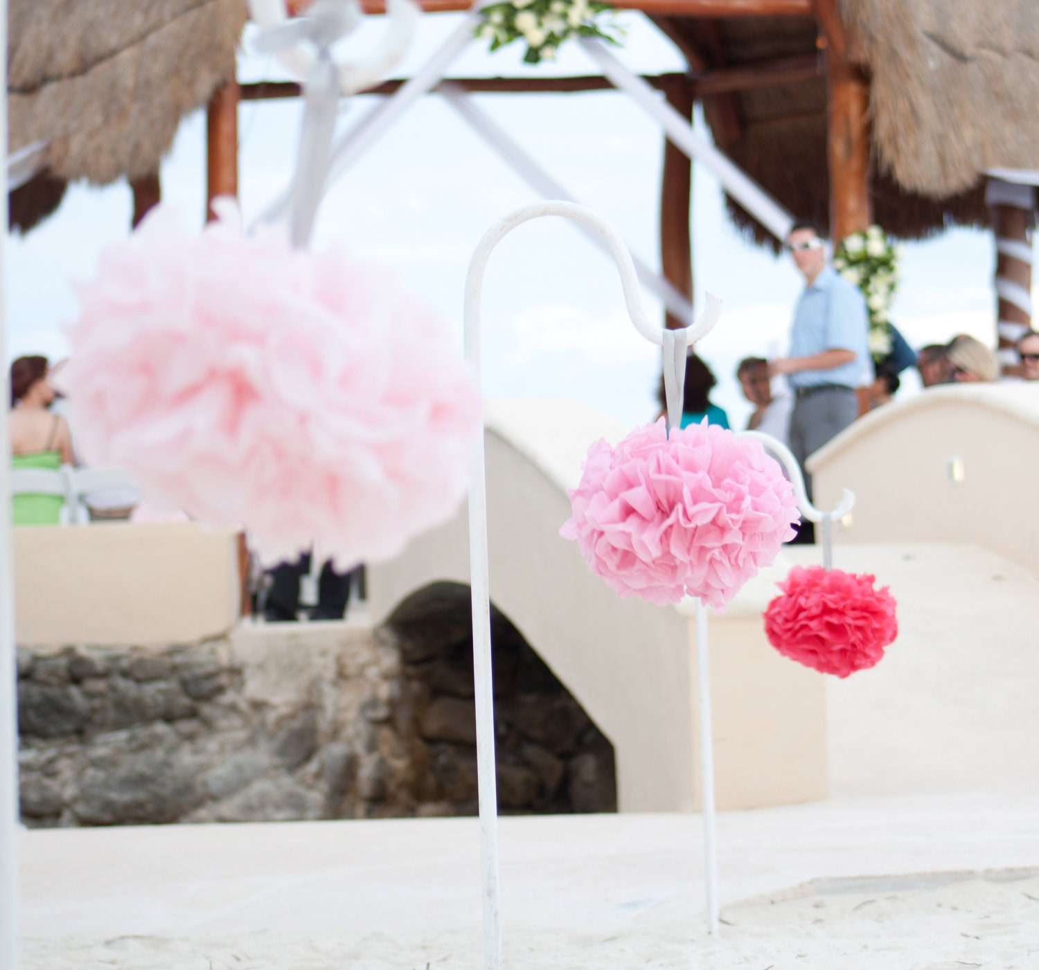 Interesting Pom Poms for Wedding Decorations Pictures Design Ideas ...