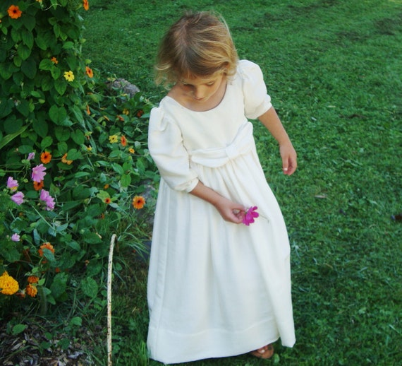 Size 4 Silk Flower Girl Dress or Special Occasion Dress with Silk Slip - ASHLEY