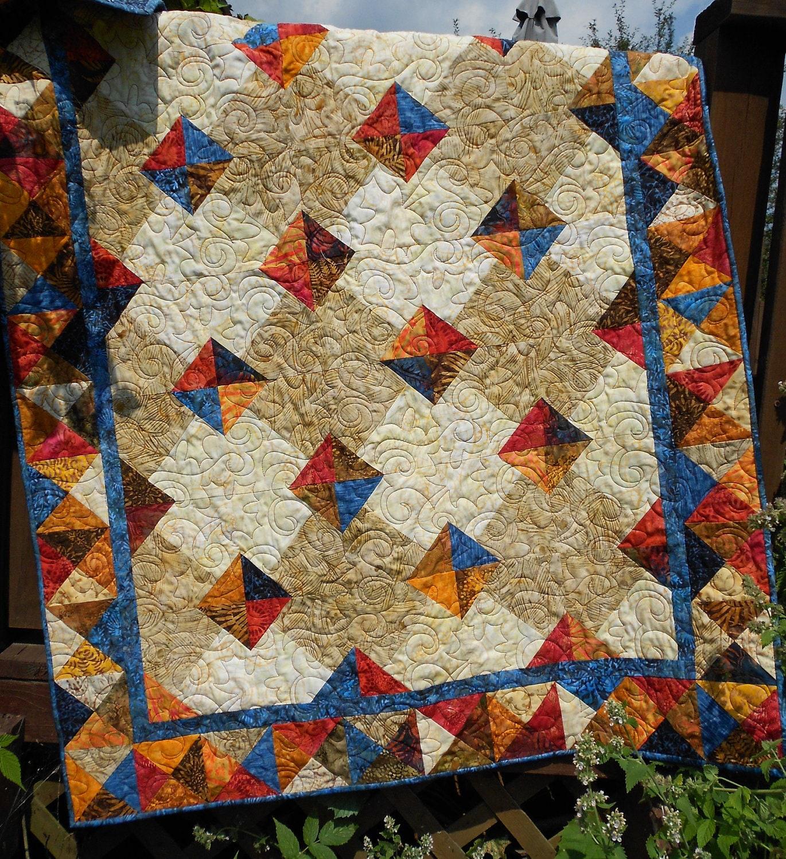 Quilt Pattern Autumn Gems Tonga Treat Layer Cake & Fat