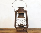 Antique Emory Lantern / Rusty Old Lantern