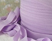 5yds Elastic Fold Over Light Purple HeadBands Ponytail 5/8 inch 15mm FOE Stretch wide Trim