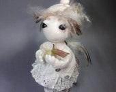 Anna the little Angel - eco wool felt art doll