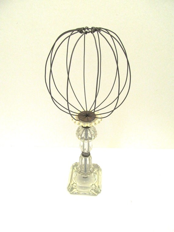 upcycled clear glass lamp base hatstand. Black Bedroom Furniture Sets. Home Design Ideas