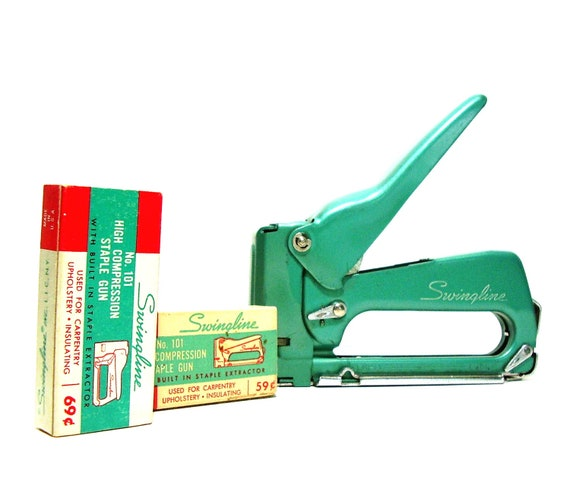 RESERVED Swingline Tacker Staple Gun Model 101 Teal Green