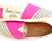 The Ellie - TOMS Shoes Fuscia and Cream Custom TOMS