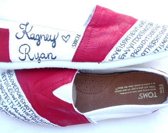 The Ginger - Red and White Custom TOMS