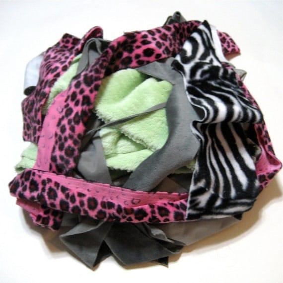 RESERVED - Minky Fabric Scraps - 12oz - 3/4 lb - applique - Sensory - Mix - Assortment