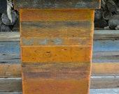 Short Barn Wood Garbage Bin / Clothes Hamper