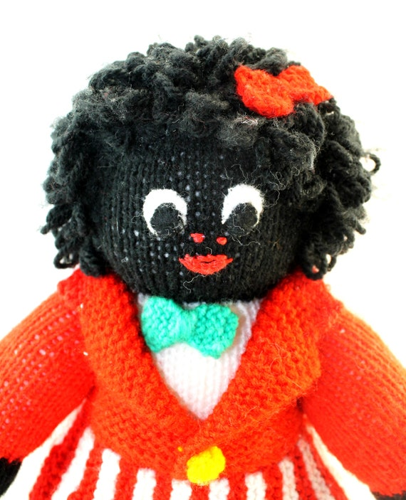 Free Golly Knitting Patterns : Female Golliwog Doll Knitted Golliwogg