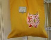 SUMMER SALE Reusable Cotton Bag: Owl