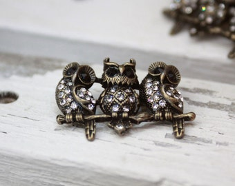 The cute owls brooch 2