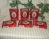 Vintage Prince Albert tobacco tins 6 vintage tobacco cans red tins roll your own cigarettes metal storage tins tobaccaina collectible tins