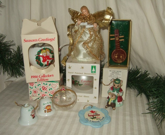 Vintage christmas ornament collection 1980s christmas ornament for Collecting vintage christmas ornaments