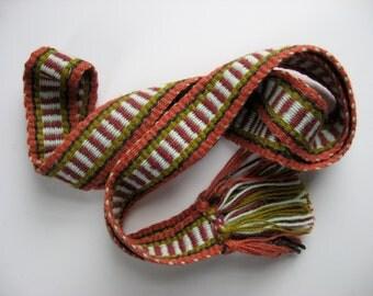 hand-woven wool inkle belt/banjo strap