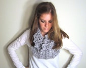 Chunky Cowl Scarf Knit Gray - The Sotterley Cowl
