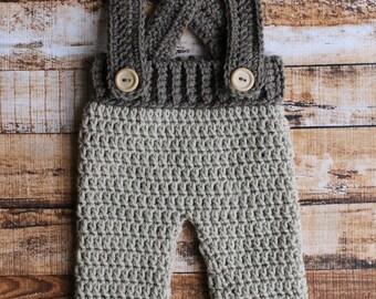 Crochet Suspender Pants Overalls Diaper Cover
