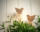 Garden Marker,  Wedding Centerpiece, Shabby Chic,  Rustic Birds, Recycled Barn Wood.