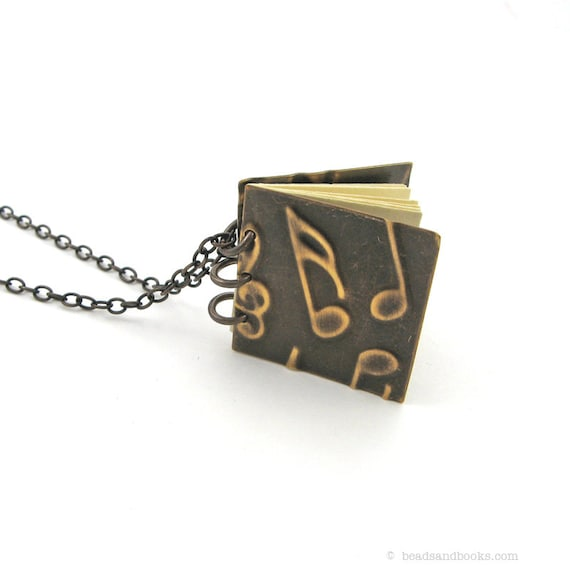 Music Note Necklace (Notebook Jewelry for Musicians, Music Lovers, Teachers)