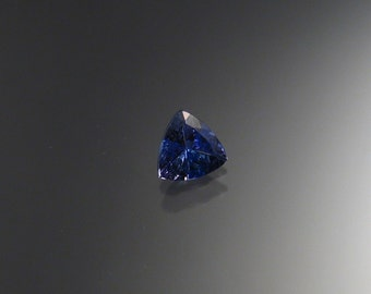 Faceted Natural Tanzanite Triangle stone, 7mm