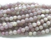 6mm/8mm/10mm/12mm Round Pink Tourmaline Bead Semiprecious Gemstone Bead Strand Wholesale Beads - 4626 - 15''L Jewelry Supply Wholesale Beads
