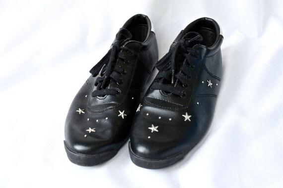 1990s black star studded shoes US 9.5 SALE