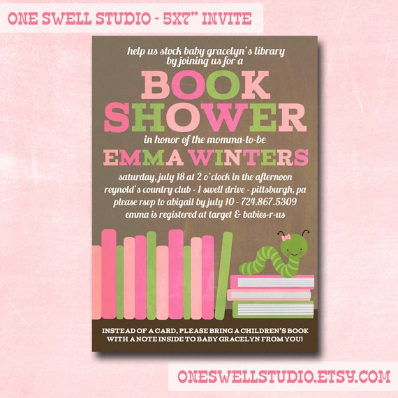 girl book shower book worm baby shower diy printable baby shower