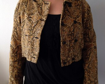 Vintage Textile Crop Jacket by Pier One