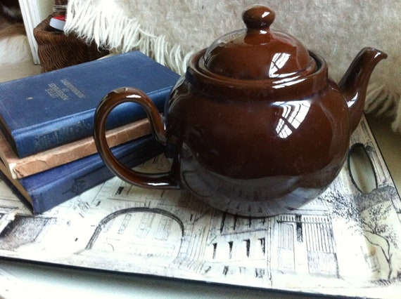 English Brown Betty Teapot By Hillsidehouse On Etsy