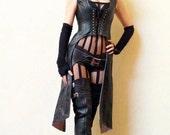 Leather Huntress Hooded Jacket