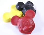 Mouse with ears crayon set of 3 crayons by Scribblers Crayons