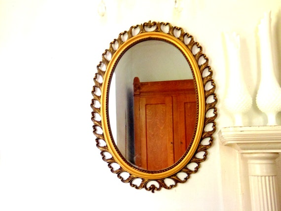 Large Mirror 1960s Wall Mirror Hollywood Regency Gold