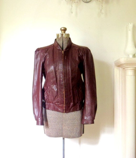 Fitted Leather Jacket Vintage 70s