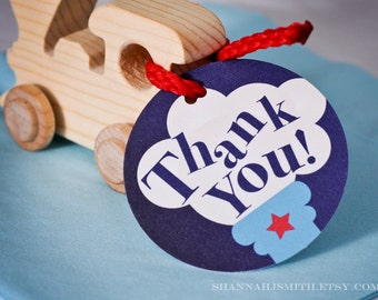 Train Party Favor Thank You Tag Print Your Own