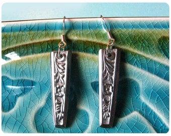 Lizzie Spoon Earrings, Upcycled, Repurposed, Spoon Jewelry
