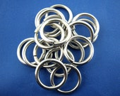12mm Jump Rings : 100 pieces Antique Silver Open Jump Rings 12mm x 1.2mm (17 Gauge) -- Lead, Nickel, & Cadmium free  12/1.2
