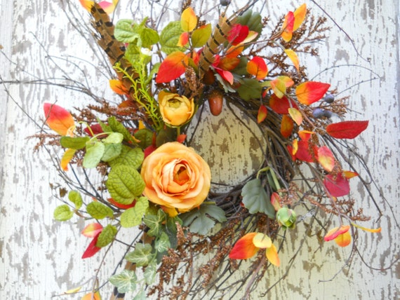 Autumn Harvest Twig Wreath