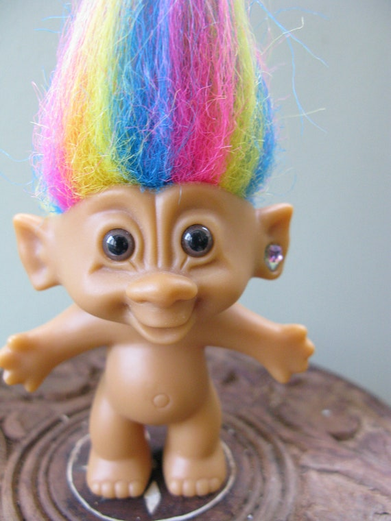 RAINBOW haired troll by Bright of America