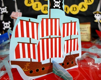 Pirate party decoration, Pirate Ship, Pirate Birthday Centerpiece, Pirate Party, Pirate birthay | Printable | INSTANT DOWNLOAD