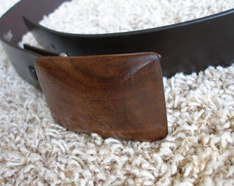 Hand Crafted Natural Walnut Wood Belt Buckle ......Great Gift Idea...Unique .....Think Christmas