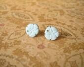 Light Blue Sea Shells Earring, Shells Earring, Sea Earrings, Sea Shells Jewelry, Sea Jewelry - 10mm