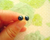 Bright Black Rhinestone Beads Earrings, Black Earrings, Black Rhinestone Post - 2 Pairs