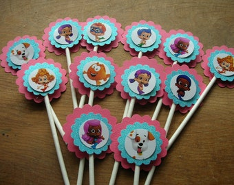 Bubble Guppy Cupcake Toppers