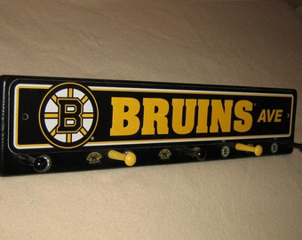 "Boston Bruins coat rack ""hangup""  (convo me for your favorite team)"
