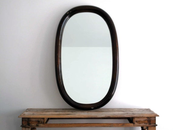 Antique wall mirror large wood frame hanging by for Hanging a large mirror
